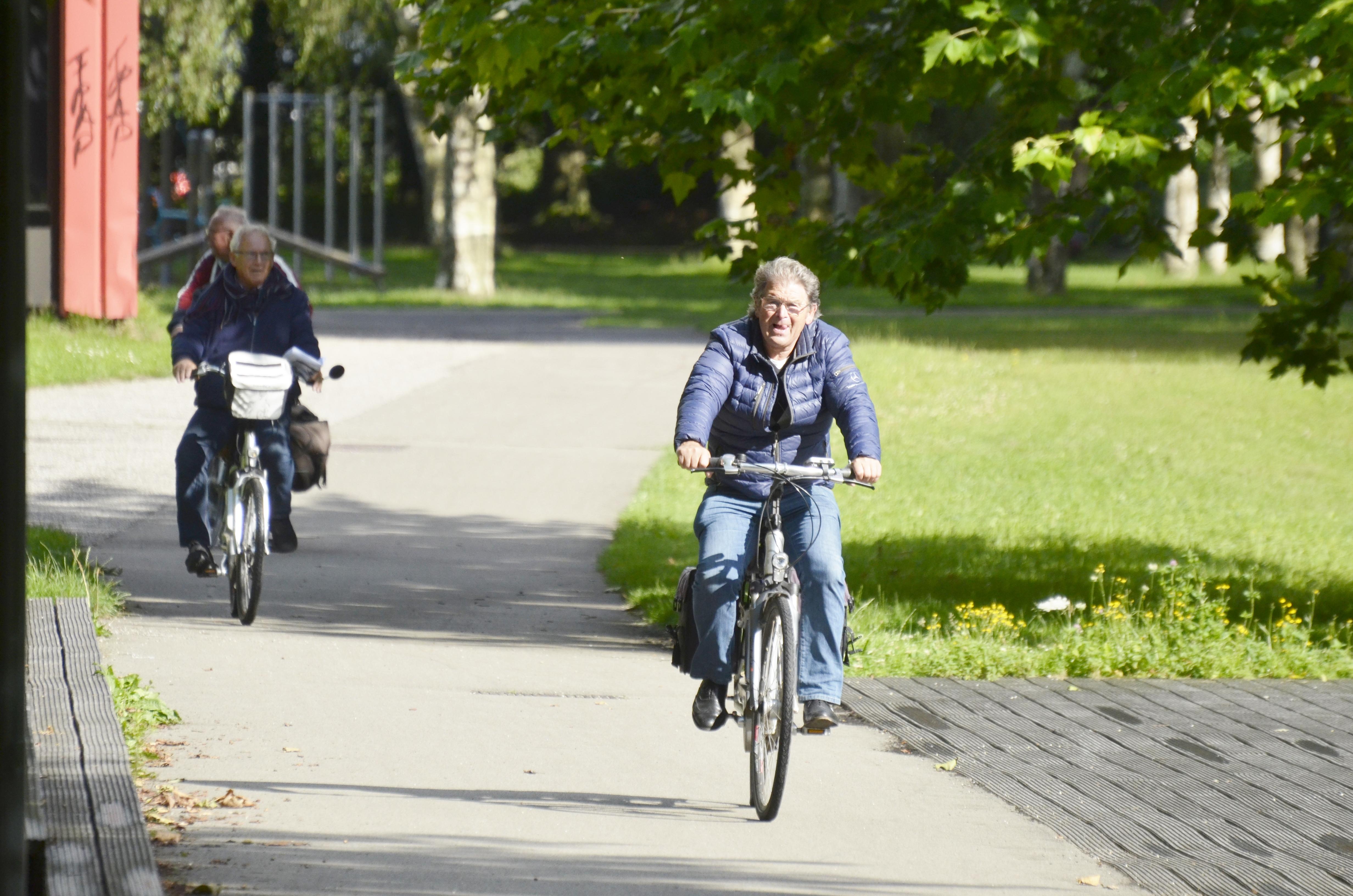 De eenzame fietser…